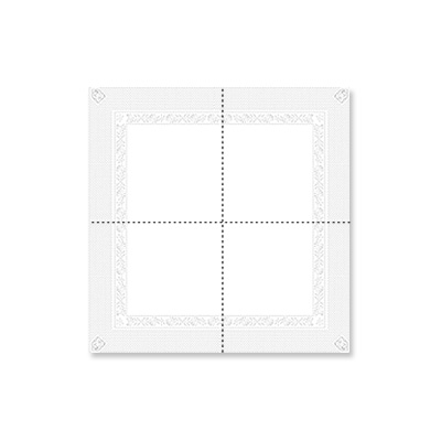 serviette cocktail blanche 25 x 25