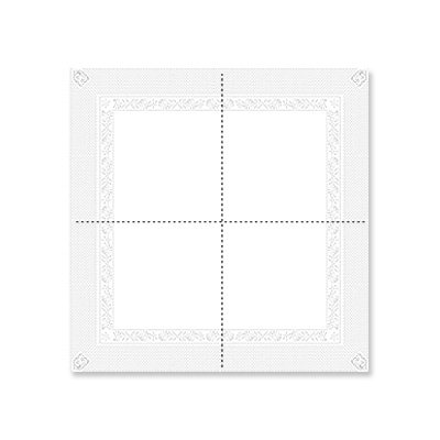 serviette cocktail blanche 33 x 33