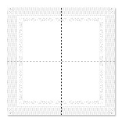serviette de table blanche 39 x 39