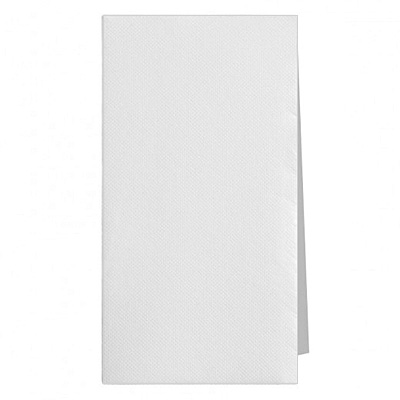 serviette de table blanche 40 x 40 - pliage 1/8